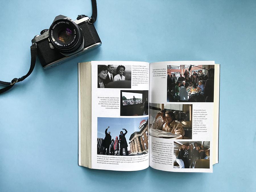 Fotos interiores del libro de Michell Obama, Mi historia
